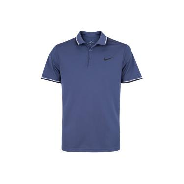 Camisa Polo Nike Court Dry Solid - Masculina - AZUL ESC PRETO Nike 2be5384552006