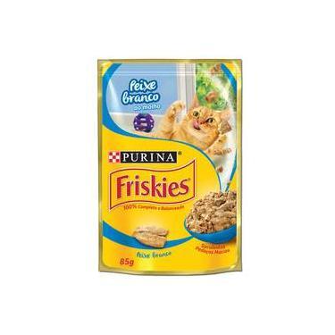 Ração Nestlé Purina Friskies Sachê Peixe Branco ao Molho para Gatos - 85 gr