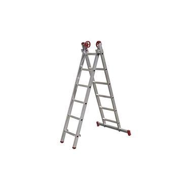 Imagem de Escada Extensiva de Alumínio 6 x 2 Degraus 1,84 x 2,76 Metros ESC0615 BOTAFOGO