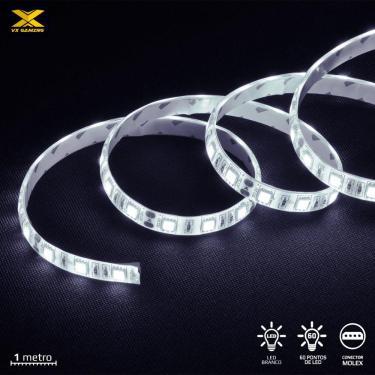 Fita de LED VX Gaming Branco com Conexao Molex 60 Pontos de LED 1 Metro - LBM1 (7908020920137)