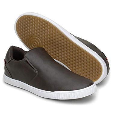 Sapatênis Tênis Masculino 13005 Sapato sem Cadarço (44, Marrom)