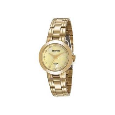 d91a1a315b0 Relógio Seculus Feminino Ref  20543lpsvda1 Casual Dourado