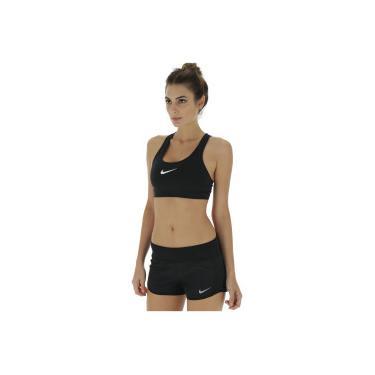 c8e6a556c Top Fitness Nike Swoosh - Adulto - PRETO BRANCO Nike