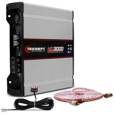Módulo Amplificador Taramps HD 3000 3000W RMS 1 Canal 1 Ohm Classe D + Cabo RCA Stetsom 5M 2mm²