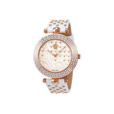 7fde43ba52f Relógio Feminino Versace Modelo Vk7510017 - A Prova D água   Pulseira Em  Couro