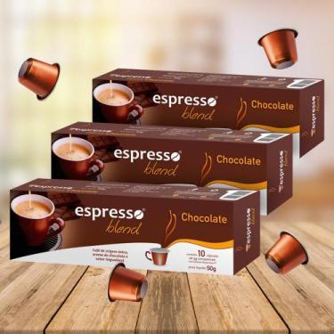 Kit Cápsulas Espresso Blend Chocolate Compatível com Nespresso - 3 Cai