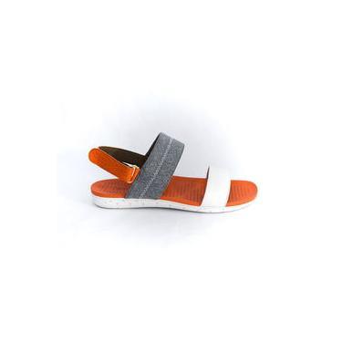 Sandália Usaflex Y5006/50 Branco/laranja