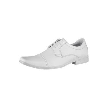 Sapato Social Oxford Novo Habito Masculino Forrado Conforto Branco