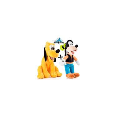 Imagem de Boneco Pelucia Original Pateta + Pluto Turma Mickey Multikid