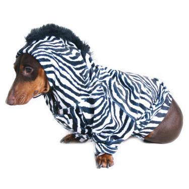 Fantasia para Cachorro Macacão Zebra M