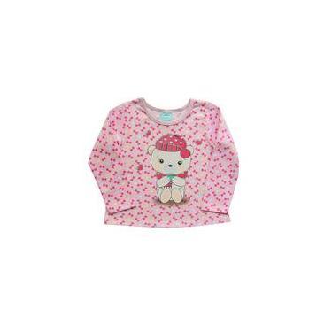 Pijama infantil menina manga longa ursinho Kyly