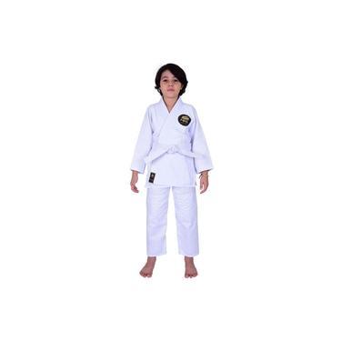 Kimono Jiu Jitsu Infantil Trançado Mks Combat Branco M1
