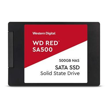 Western Digital 500 GB WD Red SA500 NAS 3D NAND SSD interno - SATA III 6 Gb/s, 7 mm, até 560 MB/s - WDS500G1R0A