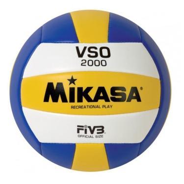 8f0f62ea91 Bola de Vôlei Mikasa VSO2000 - Azul Amarelo Branco