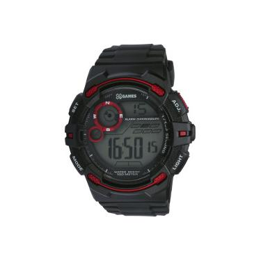 3b15acc1ff56d Relógio Digital X Games XMPPD458 - Masculino - PRETO VERMELHO X-Games