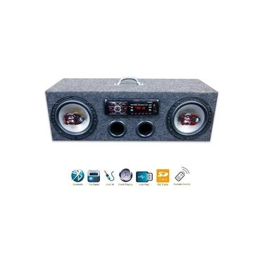 Caixa Residencial Radio Bluetooth + Par Falante 6 Bravox