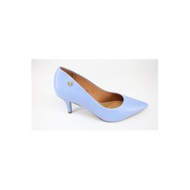 Sapato Scarpin Vizzano Salto Alto Azul