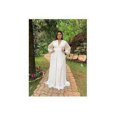 Vestido de Noiva Branco Off