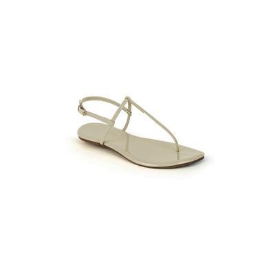 Sandália Flat Feminina Verniz Mercedita Shoes Gelo