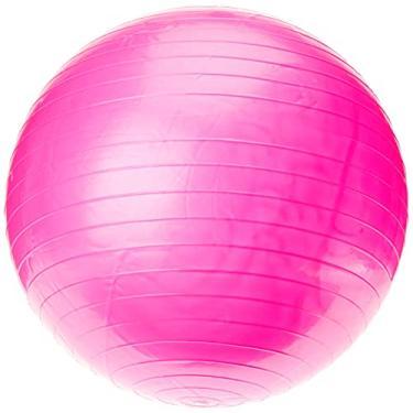 Bola Pilates Yoga Abdominal Ginástica Fitness 65 cm C/Bomba Rosa