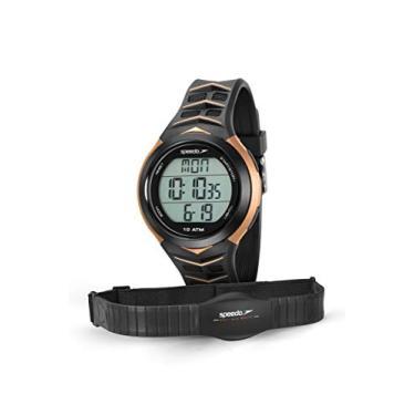 Imagem de Relógio Monitor Cardíaco, Speedo, 80621G0EVNP3, Preto/ Dourado