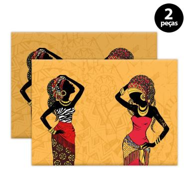 Imagem de Jogo Americano Mdecore Africana 40x28cm Laranja 2pçs