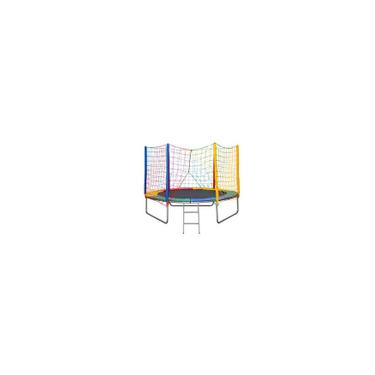 Imagem de Cama elástica pula pula 2,44 M Colorida 100% Nacional - Suporta 140 Kg