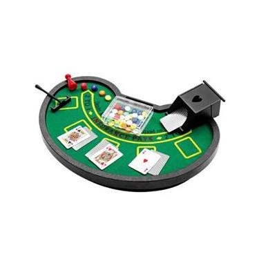 Mini Mesa de Blackjack Incasa YF0004 com Porta Cartas