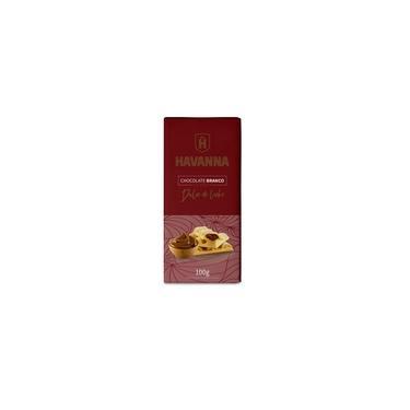 Barra de Chocolate Branco Havanna com Recheio de Doce de Leite 100g