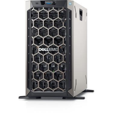 """Servidor PowerEdge T340 poweredge-t340 poweredge-t340 Intel® Celeron G4930 3.2GHz, 2M cache, 2C/2T, no turbo (54W) 8 GB de UDIMM DDR4 ECC a 2.666 MT/s, BCC SSD SATA de 2,5"""", 480 GB, 6 Gbit/s e 512 com unidade de conector automático AG, uso intenso de leitura e carregador híbrido de 3,5"""""""