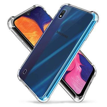 Capa Anti Shock Samsung Galaxy A10 2019 Capinha Transparente Anti Impactos Bordas Reforçadas