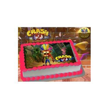 PS4 XBOX GAME - Papel De Arroz Comestível Para Bolo Crash Bandicoot II A4 20x30cm Mod.04