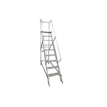 Escada plataforma de alumínio 2,25 m c/ 8 degraus + patamar - Escaleve Alustar