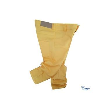 Calça Infantil Amarela Casual Amarelo Canário Menino Índigo Trend