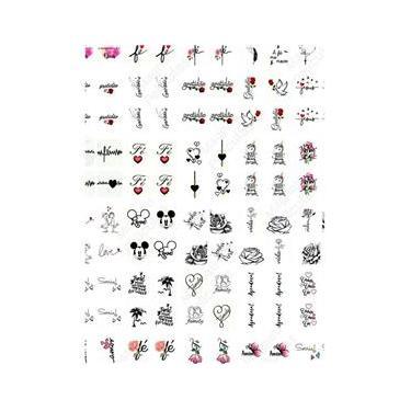 Imagem de Kit 270 Adesivos De Unhas Decorativos Com Frases E Desenhos