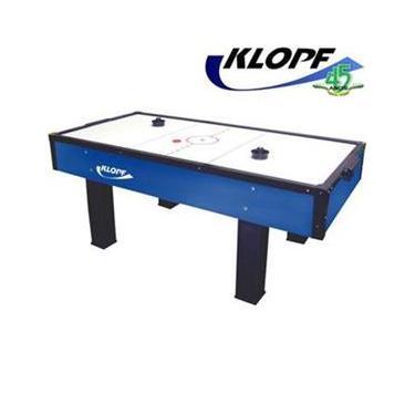 Mesa de Aero Hockey Klopf com 2 Discos e 2 Rebatedores - Azul/Branco