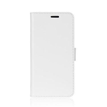 Zl One Compatível com/Substituição para Capa de telefone Oukitel C15 Pro Couro PU Proteção Cartão Slots Capa carteira Flip Case (Branco)
