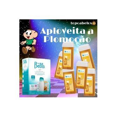 01 Kits Aparelho Depilação Depil Bella Bivolt + 6 Roll-ons