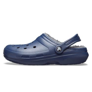 Sandália Crocs Classic Lined Clog Azul/Cinza  unissex