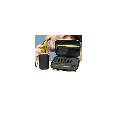 Bolsa de barbear Bolsa de transporte para Philips Norelco Oneblade Híbrido Aparador de pêlos elétrico Lâmina de barbear Acessórios Zipper de viagem Bolsa
