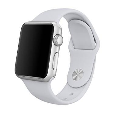 Pulseira Sport em Silicone para relógio Apple Watch 42mm Series 3 2 1 (Cinza 42mm ML)