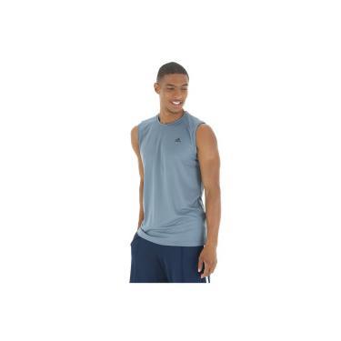 20c4096444 Camiseta Regata adidas Workout - Masculina - CINZA ESCURO PRETO adidas