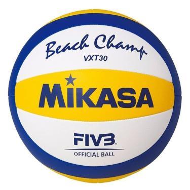 Bola de Vôlei de Praia VXT30 Beach Mikasa - Azul/Amarelo