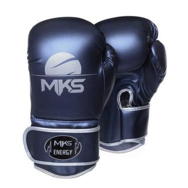 Luva De Boxe Mks Energy V2 Metalic Blue Azul Metálico 18 Oz