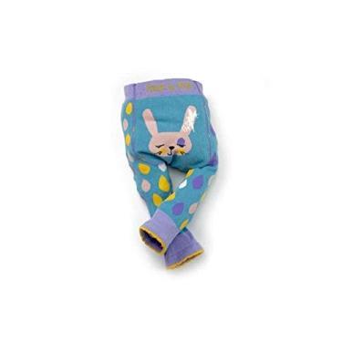 Meia Calça Legging Infantil Coelhinho 8-9 anos, Blade and Rose, Azul