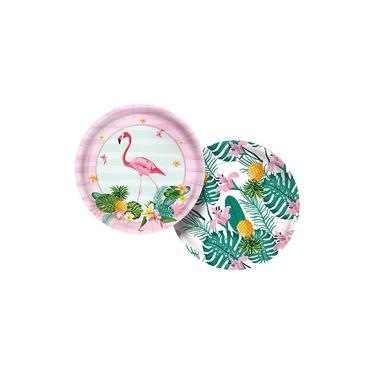 Flamingo Prato Papel 18cm c/8 - Regina