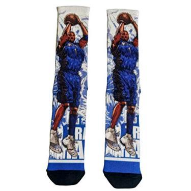 Meia Time Basquete NBA Meias Divertidas Cano Alto basketball Tamanho:UN;Cor:Azul