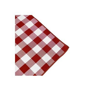 Guardanapo de Tecido Xadrez Vermelho e Branco