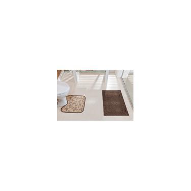 Imagem de Conjunto Felpudo 2 peças de Tapetes para Banheiro Floor