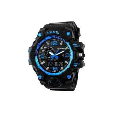 ce5b7bbde Relógio Masculino Skmei Anadigi 1155 Pt-Az